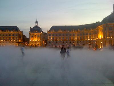 Bordeaux in the mist